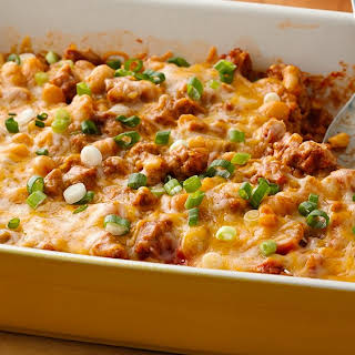 Make-Ahead Cheesy Turkey Chili Bake.
