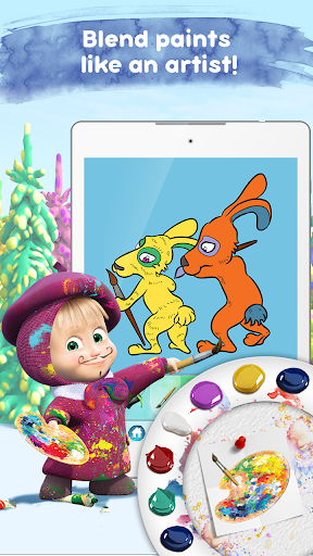 Masha and the Bear: Free Coloring Pages for Kids 1.0.3 screenshots 3