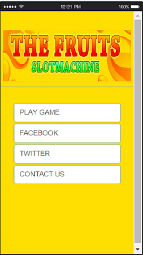 Fruit Slots Machine For Fun