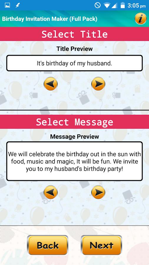 birthday invitation size