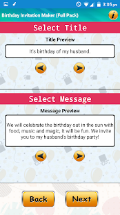 Design birthday invitations apps on google play screenshot image stopboris Choice Image