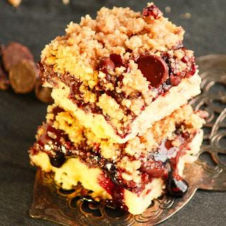 Black Raspberry Chocolate Crumbling Dream Bars
