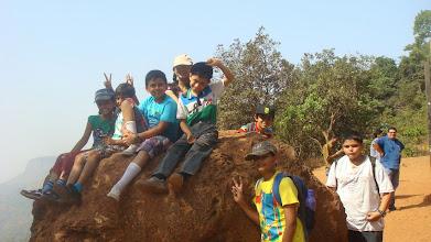 Photo: Atop a rock at Matheran
