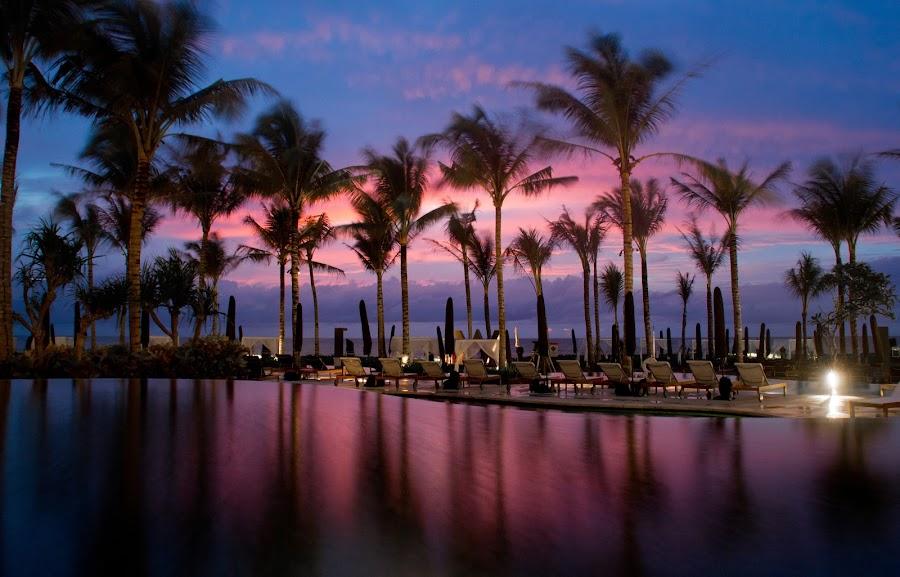 Twilight over the Seaside by Hendhy Hutomo - Landscapes Travel ( w, bali, seminyak, pool, twilight, sea, travel, seaside, hotel, landscape )
