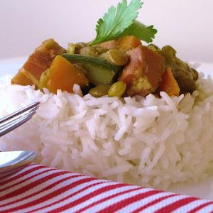 Barley Salad, Romanesco and Chicken with Harissa