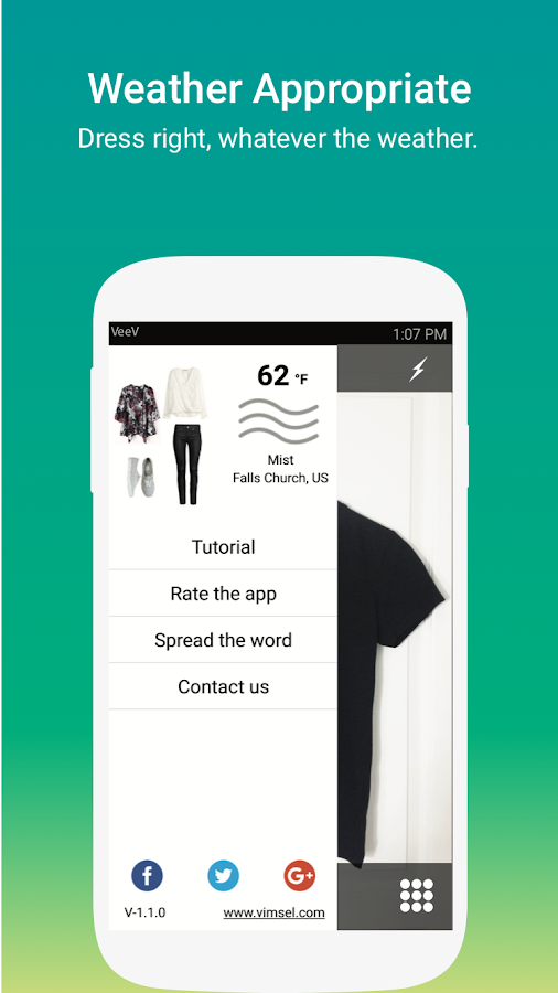 VeeV, the Style App- screenshot