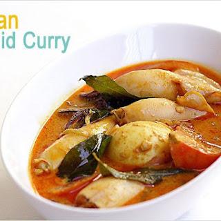 Squid Curry Recipe (Indian Gulai Sotong Recipe).