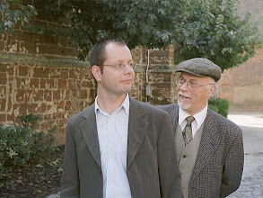 Photo: My father and me, Diest 2001