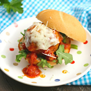 Mozzarella-Stuffed Meatball Sliders
