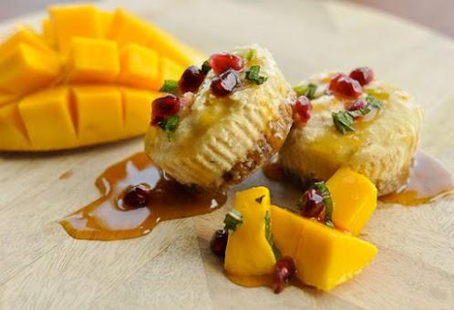Mango Cashew Cupcakes