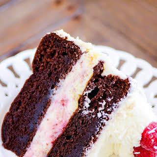 White Chocolate Raspberry Cheesecake Cake.