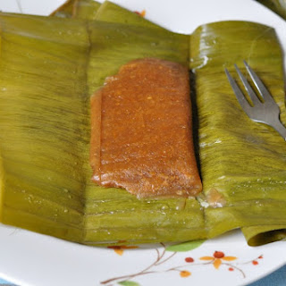 Chakkappam/ Steamed Jackfruit Rice Cake Wrapped in Banana Leaves