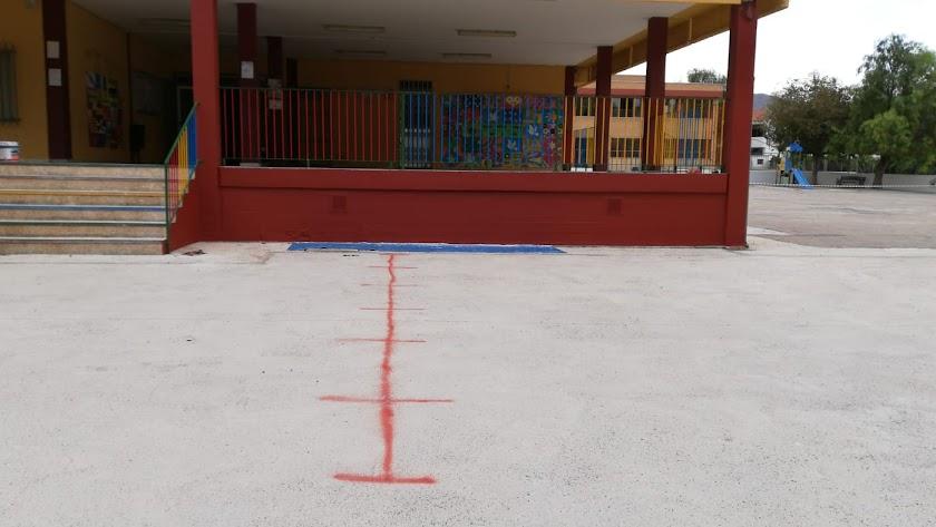 Imagen del colegio Celia Viñas, sin los niños con discapacidad, que están de huelga.