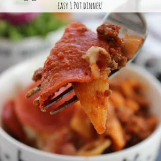Pepperoni Pizza Pasta Recipe | Easy 1 Pot Dinner!.
