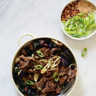 Korean Barbeque Beef (Bulgogi).