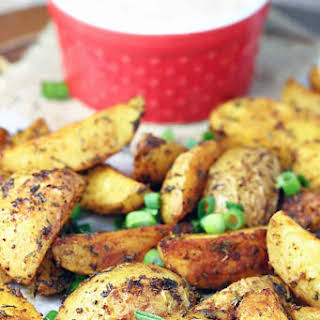 Cajun Roasted Potatoes with Creole Dipping Sauce.