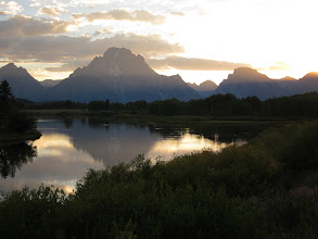 Photo: Mt Moran reflected at Oxbow Bend