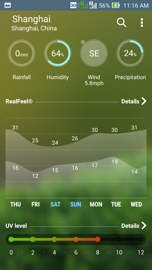 Screenshots of ASUS Weather for iPhone