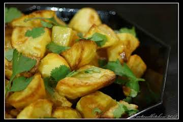 Roast Potatoes with Lemon and Coriander