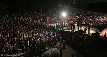 Photo: Condemning the coup, Supporters of at MDP Rally Artificial Beach. Photo: Maapu