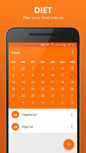 FITCEPS Fitness tracker app - náhled