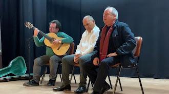 Emilio Fernández, Gerardo Parra y Norberto Torres, en Canjáyar.