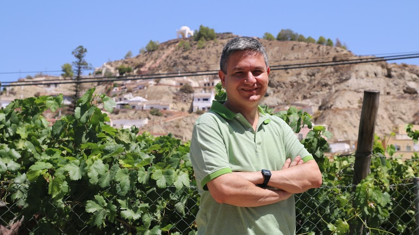 José Caro Ramón en Terque, el pasado mes de agosto.