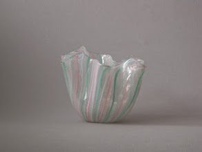 Photo: Handkerchief (Fazzoletto) vase. Attributed to Venini