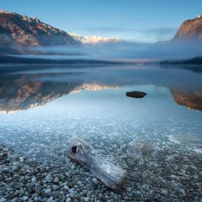 January morning by Bor Rojnik - Landscapes Waterscapes ( national park, mountain, triglav national park, january, julian alps, morning, alps )