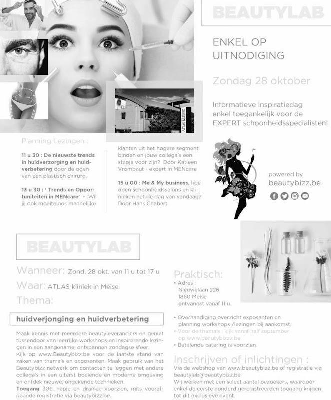 Beautylab voor de Expert Beautyprofessional 28 oktober 2018