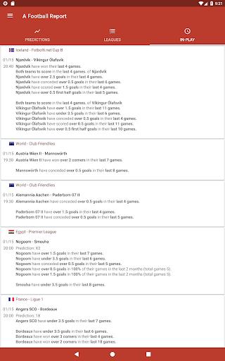 Football Tips & Stats - A Football Report 2.4 Screenshots 7