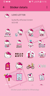 Hello Kitty Love Stickers - WAStickerApps Screenshot