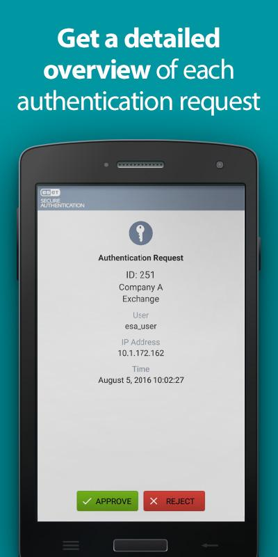 ESET Secure Authentication- screenshot