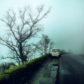 Western Ghats..,India by Praveen Kammaje - Landscapes Travel ( highway, india, western ghats, roads, karnataka )