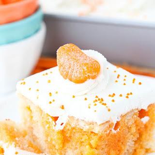 Orange Creamsicle Poke Cake.