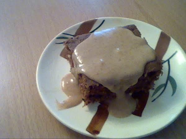 Chocolate Zucchini Cake  With Sugar Cinnamon Sauce Recipe