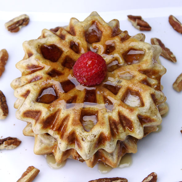 Nutty Maple Waffles Recipe