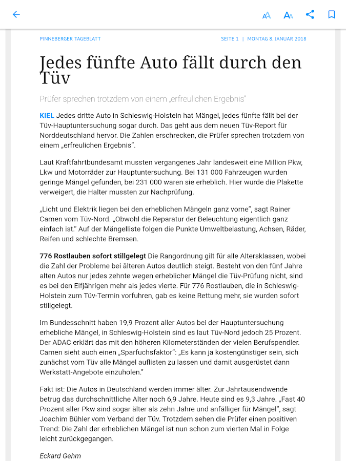 A. Beig ePaper – Screenshot