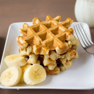 Banana Bread Snack Waffles