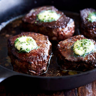 Restaurant-Style Filet Mignon with Compound Butter.