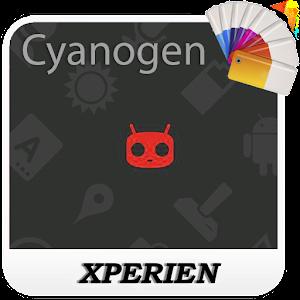 Тема XPERIEN™ -Cyanogen Red