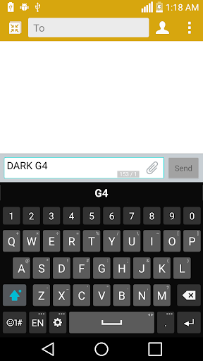 Dark G4 Theme for LG Keyboard