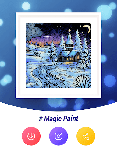 Magic Paint - Color by number & Pixel Art - screenshot