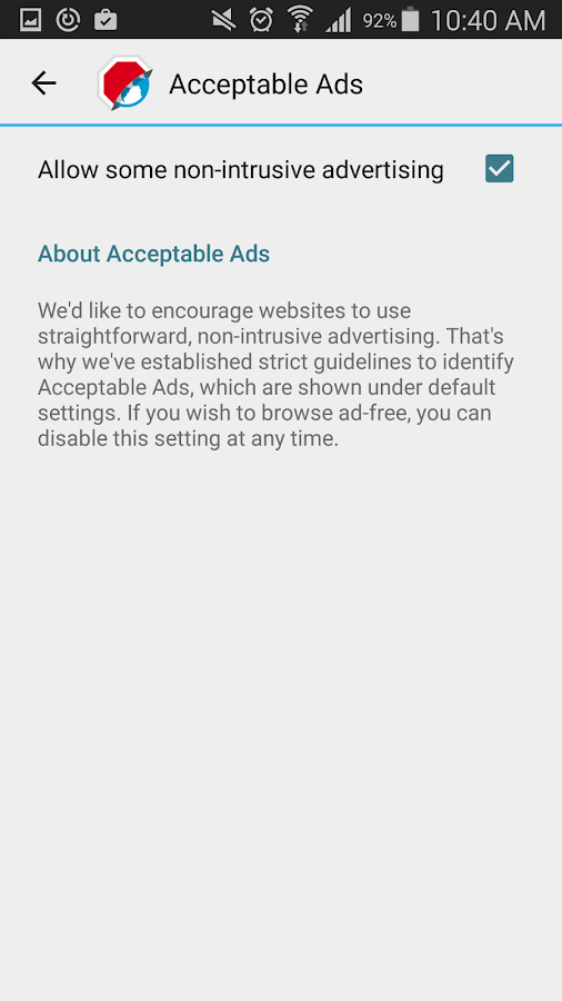 Adblock Browser for Android- screenshot