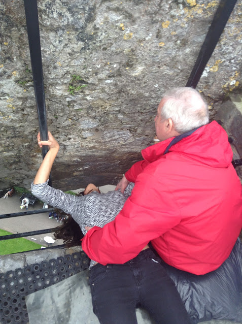 In case you were curious as to how to kiss the Blarney Stone