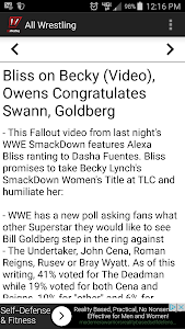 All Wrestling - News screenshot 1