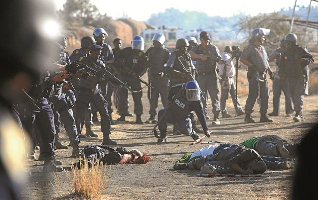 Marikana tragedy. Picture: THE TIMES