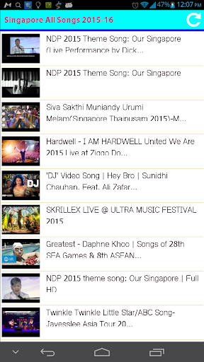 Singapore All Songs