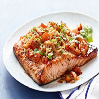 Grilled Bruschetta Salmon