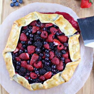 Rum Infused Mixed Berry Galette